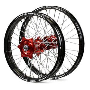 Talon-Evo-Billet-Wheelset-Black-Rims-Red-Hubs-Pair-2